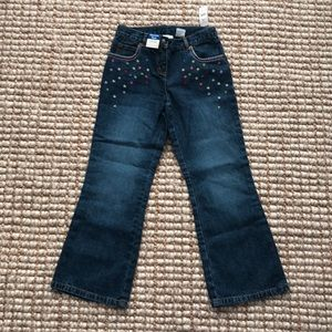 🐝 Talbots Kids girls embroidered jeans NWT